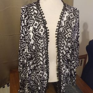 Mixit Balck and White cardigan with Big Arms